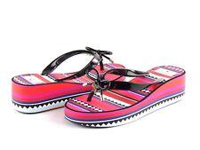 Kate Spade S5870206 Rhett Black Geometric Platform Wedge Flip Flop Sandal Size 9