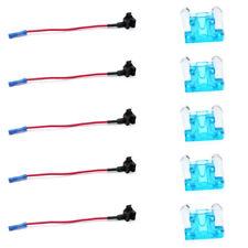 10X Mini Car Add-A-Circuit Low Profile Fuse Tap Adapter Holder 5Pcs Fuses E8W4