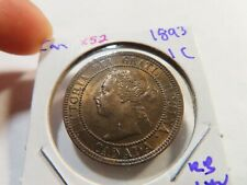 X52 Canada 1893 Large Cent UNC Red Brown