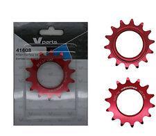 Piñon Fijo de Bicicleta Fixie Ruder Berna 14T Aluminio Rojo Mecanizado CNC 3610