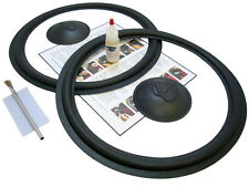 "Complete Infinity 15"" SM155 Speaker Foam Repair Kit w/ Logo Caps - 2INF15-comp"