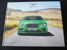 2017 Bentley Continental GT Brochure V8 S Speed Black Ed Hardcover Sales Catalog