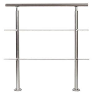 Rampe d'escalier JEOBEST Acier inox 100 cm Rambarde Main Courante Balustrade