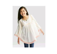 Girls Poncho - Cat & Jack™ White L, Blouse, Shirt