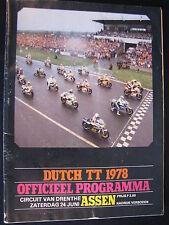 Program Dutch TT Assen 24 juni 1978 (TTC)