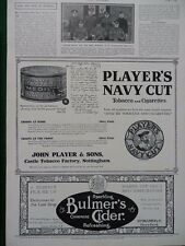 1915 ADVERT PLAYER'S NAVY CUT TIN SHRAPNEL HOLE, TOBACCO FOR THE TROOPS WW1 WWI