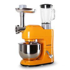 Klarstein Lucia Orange 1200 W Kitchen Blender Food Processor Meat Mincer Machine