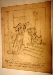 AL KILGORE pencil drawing 8 x 10 FLOOR COVERING WEEKLY Magazine Cartoon AKd425
