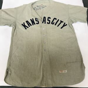 Mickey Mantle Signed 1951 Kansas City Blues Minor League Yankees Jersey PSA DNA