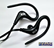 Auriculares Deportivos Ajustables Con Microfono - Serie Sport - Silicona - Black