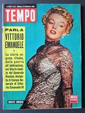 Tempo 1956 copertina cover MARILYN MONROE italian original magazine