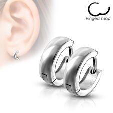 316L Stainless Steel 4mm Simple Huggie Hoop Earrings (Choose Color)