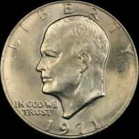 "1971 P Eisenhower Dollar ""About Uncirculated"" US Mint Coin AU Ike"