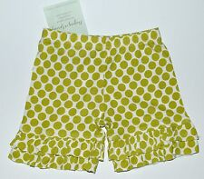 Persnickety Shorts 2 Marley Green Dot Ruffle Sweet Pea Shortie NEW kg1