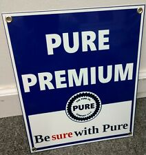 Pure Premium Gas Oil gasoline sign .Free ship on any 8 signs