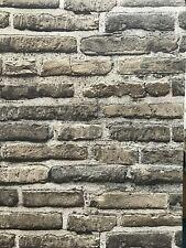 Papel pintado 3d beis piedra efecto de muro de ladrillos Moderna atrevida
