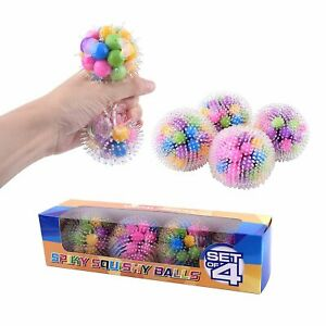 Spikey DNA Squish Stress Ball by Special Supplies (4-Pack)