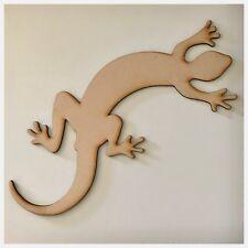 Lizard Gecko MDF Shape DIY Raw Cut Out Art Laser Craft Decor 3mm