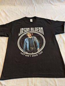 Jason Aldean They Don't Know Tour 2017 Concert T Shirt LARGE