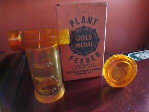 Plant Feeder Hose Garden Lawn Grass Garden Fertilize Hose Gold Metal Plastic