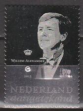 Nederland zilveren postzegel met diamant 2878 Koning Willem-Alexander - Royalty