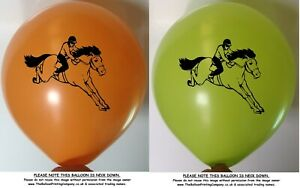 10 Assorted Colour Horse Racing Balloons Adult Children Balloon Party Dressage