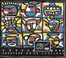 "COMPILATION BOX 2CD ""AREZZO WAVE 1991"" 1992 KINDERGARTEN RECORDS 506 026-2 RARO"