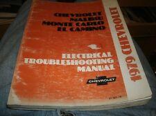 1979 CHEVROLET MALIBU MONTE CARLO EL CAMINO ELECTRICAL TROUBLESHOOTING MANUAL