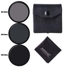 3pcs/lot 58mm Neutral Density ND2/ND4/ND8 lens Filter Kit set ND+2+4+8 with case