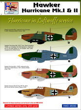 H-Model Decals 1/48 Hawker Hurricane Mk.I & II Hurricane in Luftwaffe Service #