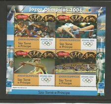 SAINT THOMAS & PRINCE 2004 - Olympic games Athens 2004 souvenir sheet mnh