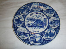 SAN FRANCISCO DECORATIVE COLLECTABLE PLATE - BLUE & WHITE
