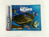 Notice Game Boy Advance VF  Le Monde de Nemo  AGB-BFWX-FRA