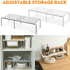 Kitchen Cupboard Organiser Shelf Storage Support Pantry Stand Rack Adjustable UK