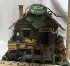Welcome to the Cabin Wilderness Wood Birdhouse Camping Rustic Hunting Moose New