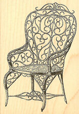 Vintage Chair Wood Mounted Rubber Stamp Impression Obsession Stamp E9274 NEW
