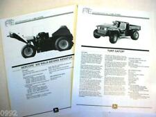 John Deere Turf Gator & 800 Aerator Information Sheets
