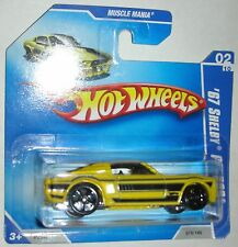 1967 Yellow Shelby GT-500 Muscle Mania 02/10 Hot Wheels 2008 Short Card 078/166