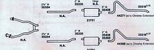 1969 MERCURY COUGAR DUAL EXHAUST SYSTEM, ALUMINIZED, 351 ENGINES ONLY