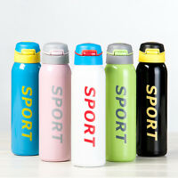 500ML Sport Bottle Stainless Steel Double Vacuum Insulated Water Drinks 1443
