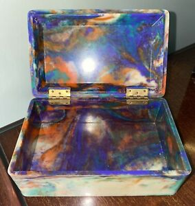 Magnificent Vintage Bakelite box rare unusual Colours - EDWIN ELLIOTT MAKER