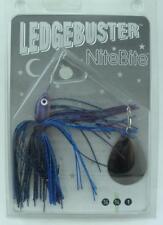 Strikezone LB034-N7 Ledgebuster Night Bite Spinner Bait Purple Hed BkBerry 21838