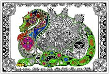 Dragon - Giant Coloring Poster (32½ x 22 Inches)