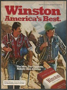 WINSTON cigarettes - 1982 Vintage Print Ad