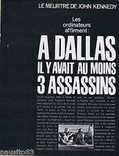 COUPURE DE PRESSE CLIPPING 1970 Le Meurtre de John Kennedy (8 pages)