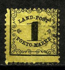 BADEN, RURAL POSTAGE DUE, YEAR 1862, MICHEL # 1x,  CV € 400, USED, (SU264)