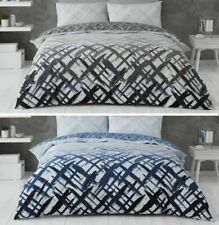 ELIJAH Urban Life Printed Duvet Quilt Cover and Pillowcases Bedding Set All Size