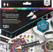 Spectrum Noir Classique - Dual Tip Permanent Markers - 12pc - (JEWEL)