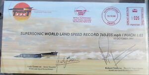 FDC Signed Andy Green & Richard Noble,Land Speed Record,15/10/97, 0201 of 5000