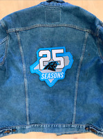 "CAROLINA PANTHERS 25TH ANNIVERSARY PATCH 10"" JACKET STYLE 2019 -2020 NFL SEASON"